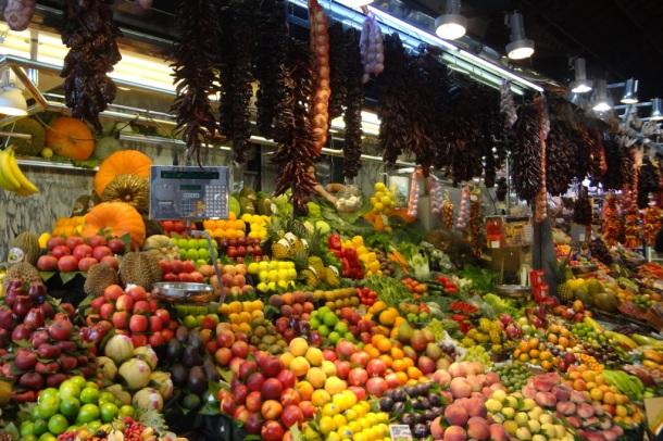 Barcelona- La Boqueria Fruit Stand