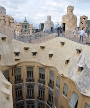 Barcelona- Casa Mila Roof and Courtyard