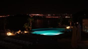 Croatia- Split- Le Meridien Lav Hotel Pool Night 1