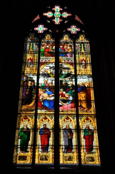 Germany- Cologne- Cologne Cathedral Stained Glass Window 1