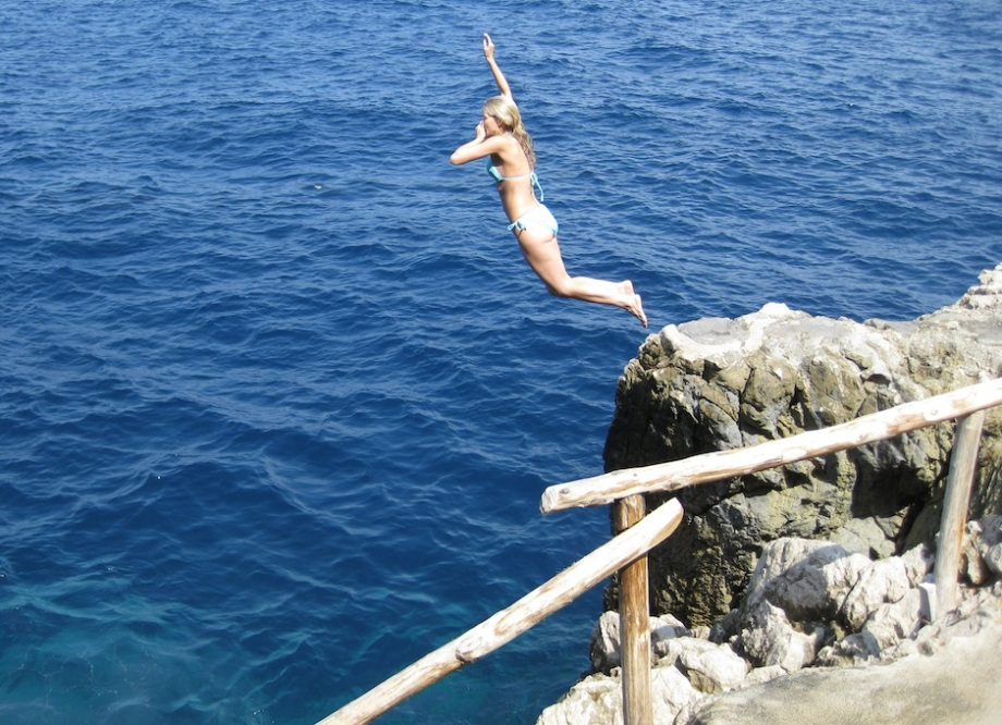 Italy- Capri- Rock Jumping 1