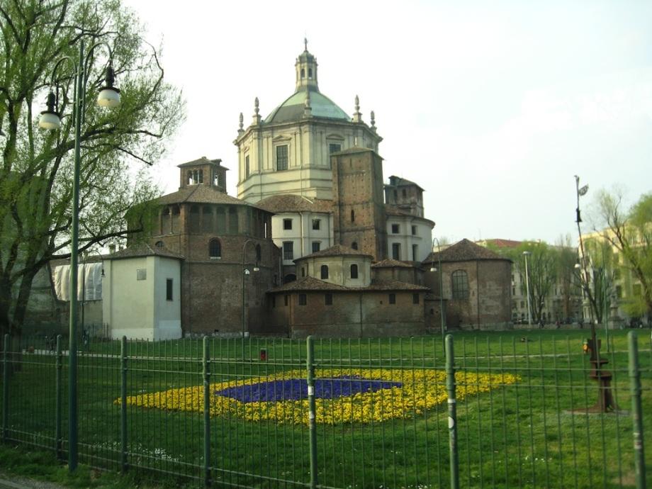 Italy- Milan- Sforza Castle Flowers 1
