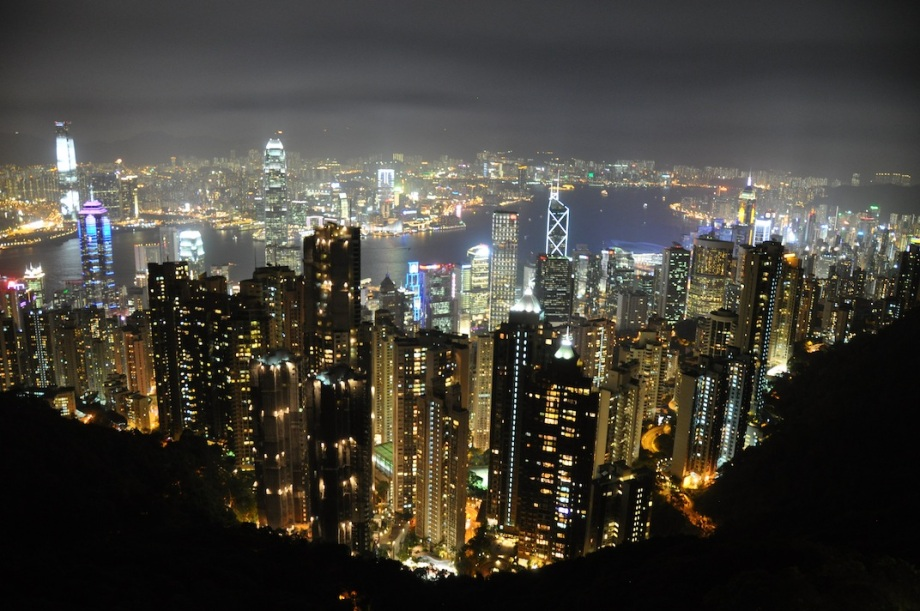 Hong Kong- Victoria Peak- View at Night 1