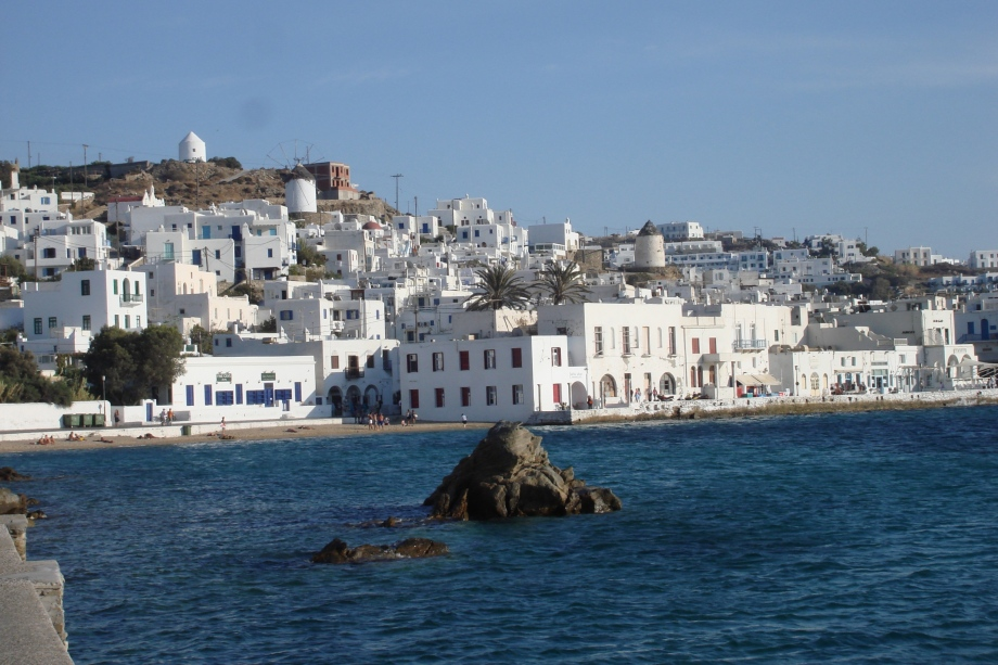 Greece- Mykonos- Waterfront- Harbor 1