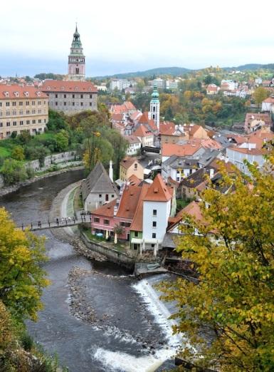 Czech Republic- Cesky Krumlov- View Over the River 1