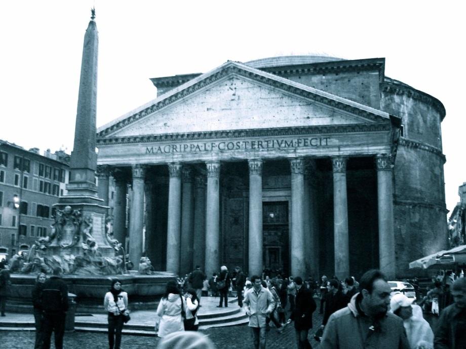 Italy- Rome- Pantheon B&W 1