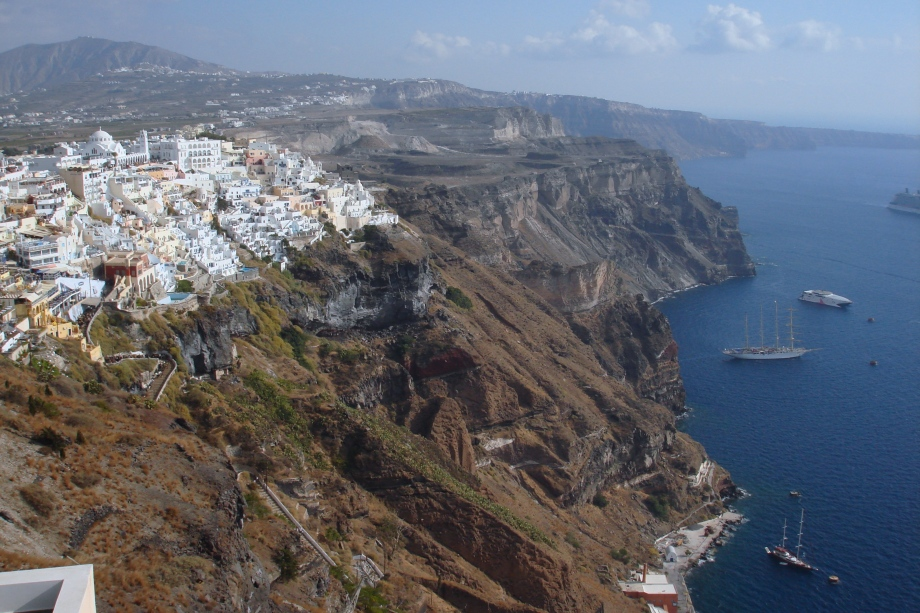 Greece- Santorini- Fira View Over 1