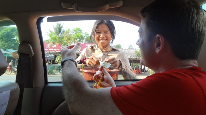 Cambodia - Siem Reap - Child Selling Wares 1