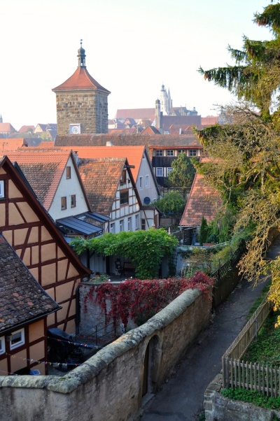 Germany - Rothenburg ob der Tauber - View from the Wall 1