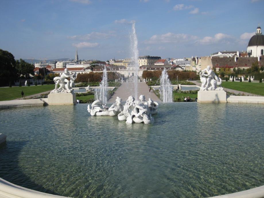 Austria - Vienna - Belvedere Palace Fountain 1